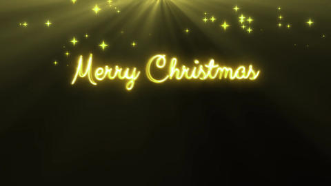 Merry Christmas and a happy new year 4k loop yellow CG動画素材