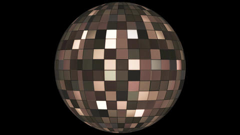 Twinkling Hi-Tech Squares Spinning Globe, Brown, Events, Alpha Matte, Loopable, Image