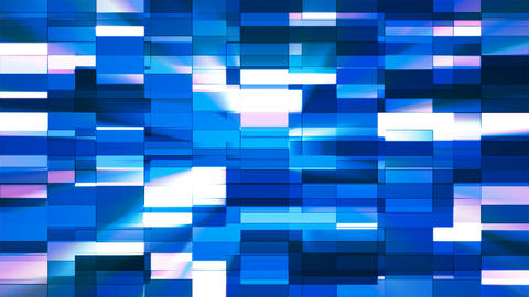 Twinkling Horizontal Small Squared Hi-Tech Bars, Blue, Abstract, Loopable, 4K Animation