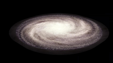 Spiral Galaxy isolated over transparent background. Singularity, gravitational Videos animados