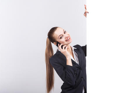 Picture of beautiful business lady talks a phone フォト