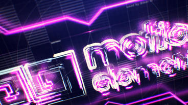 Tech Neon Logo After Effectsテンプレート