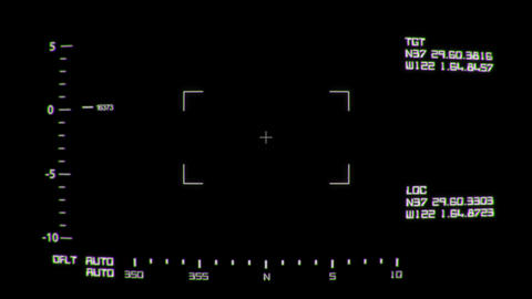 Realistic Night Vision Screen Interface with Data Live Action