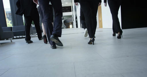 Business people walking in hall Footage