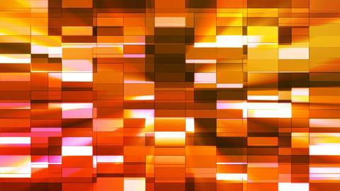 Twinkling Horizontal Small Squared Hi-Tech Bars, Orange Red, Abstract, Loopable, Animation