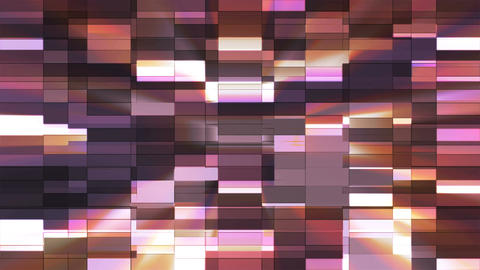 Twinkling Horizontal Small Squared Hi-Tech Bars, Purple, Abstract, Loopable, 4K Animation