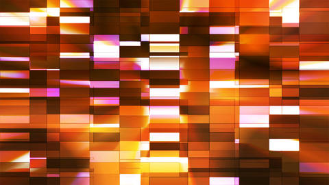 Twinkling Horizontal Small Squared Hi-Tech Bars, Golden, Abstract, Loopable, 4K Animation
