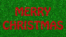 Decorative green and red video with text Merry Christmas CG動画素材