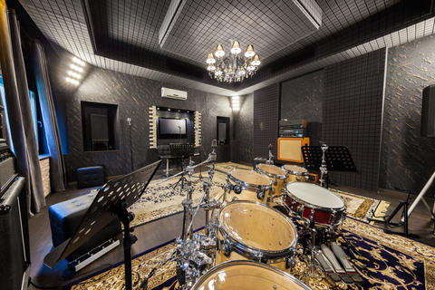 professional music recording studio with musical instruments Photo