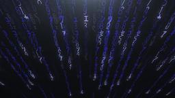 Falling purple matrix code Stock Video Footage
