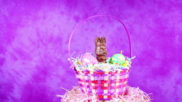 Chocolate Easter Bunny Basket Footage