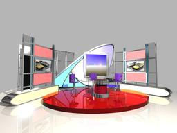 TV News Studio 005 3D Model