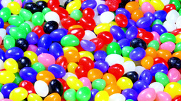 Colorful Jellybean Easter Background stock footage