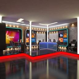 TV News Room Studio 016 3D Modell