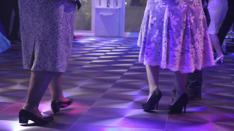 Dancing peoples at the wedding dance floor Footage