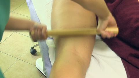 Massage with Bamboo Footage
