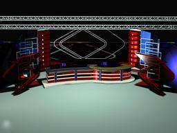 TV News Studio 109 3D Model