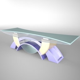 Tv Studio Desk 002 fbx FBX 3D Model