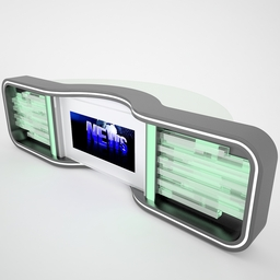 Tv Studio News Desk 005 3D Modell