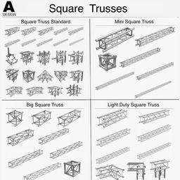 Square Trusses 001 3D Modell