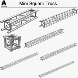 Mini Square Truss 005 3Dモデル