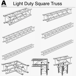 Light Duty Square Truss 006 3Dモデル