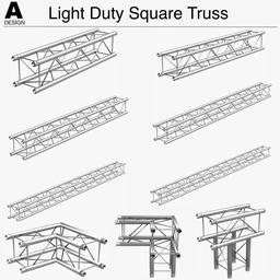 Light Duty Square Truss 006 3D Model