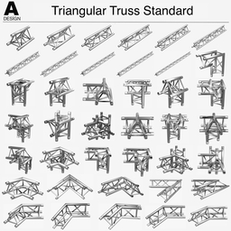 Triangular Truss Standard 008 3D Modell