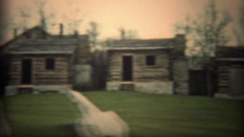 1936: Historic log cabin building construction pioneer community settlement ビデオ