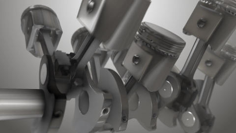 Close-up Piston animation Animation