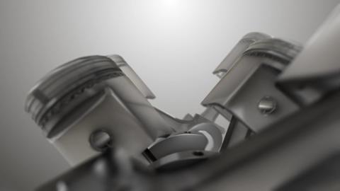 Flight of the pistons inside the engine macro Image