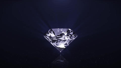 Animation sparkling diamond fly off with diamonds Footage