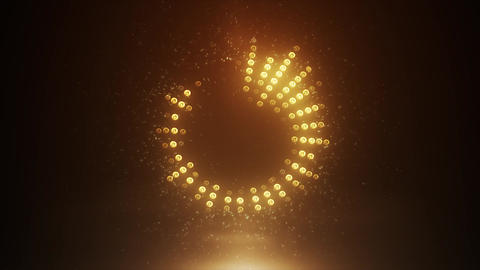 Gold high-tech Led Equalizer Animation