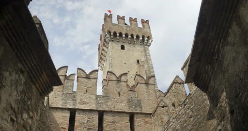 Sirmione Castle Tower Footage