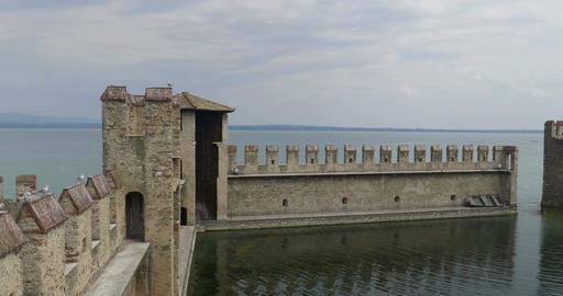 Sirmione Castle Boathouse Footage