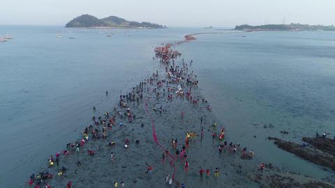 진도 신비의 바닷길, Jindo miracle sea festival 실사 촬영