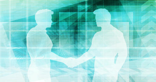 Business People Handshake Greeting Agreement Talking Deal Concept Footage