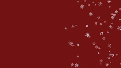 Snowflakes falling Animation