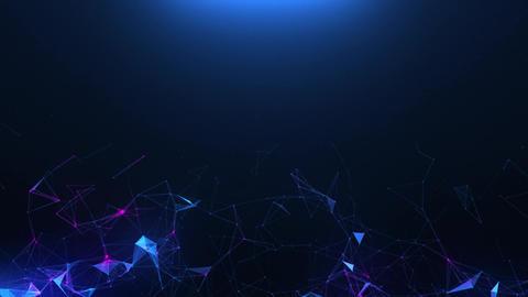 Blue-violet abstract background of plexus CG動画