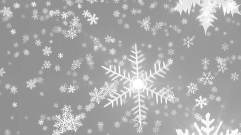 Snowy 4 - Crystal Snowflakes And Christmas Video Background Loop Animation