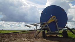Irrigation system on agricultural land Filmmaterial