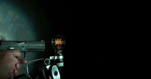 Gun Shoots Light Bulb Footage