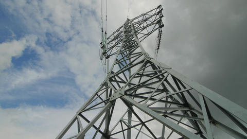 Electric support of high voltage power cables. Energy industry Footage