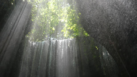 Tukad Cepung waterfall, Bali, Indonesia Live Action