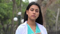Young Hispanic Female Nurse Live Action