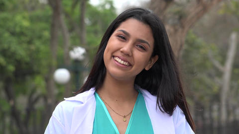Smiling Female Nurse Or Young Doctor Live-Action