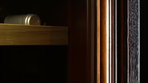 Macro Wine Cabinet Designed for Storage Maturation of Elite Wine Footage