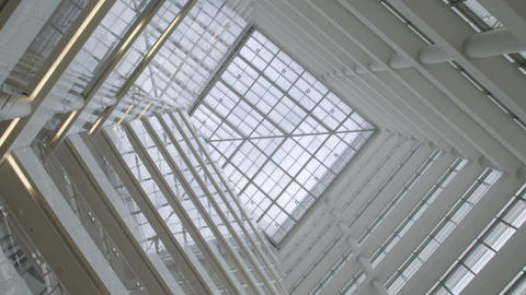 Abstract glass windows architecture background Footage
