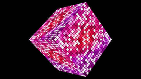 Broadcast Hi-Tech Twinkling Spinning Diamond, Magenta, Events, Alpha Matte Animation