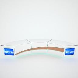 Tv Studio News Desk 004 3D Model